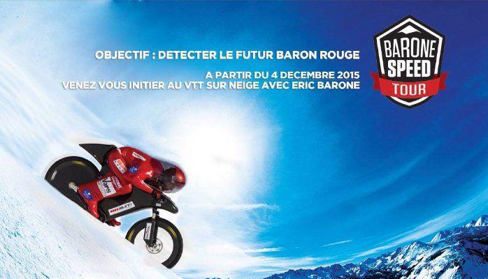 Ouverture du BARONE SPEED TOUR les 4 & 5 décembre 2015 au snowhall d'Amnéville pour le Téléthon 2015.