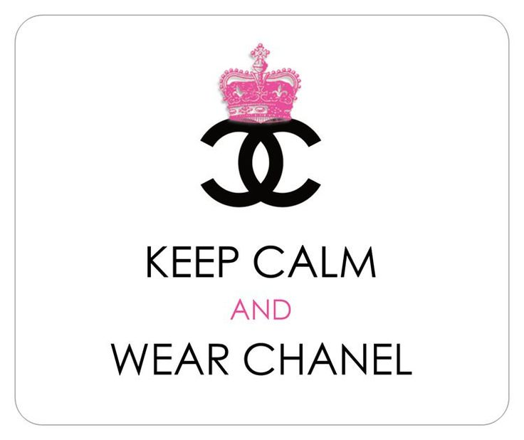 coco chanel inspired royal crown designer logo mousepad keep calm and wear chanel via. Black Bedroom Furniture Sets. Home Design Ideas