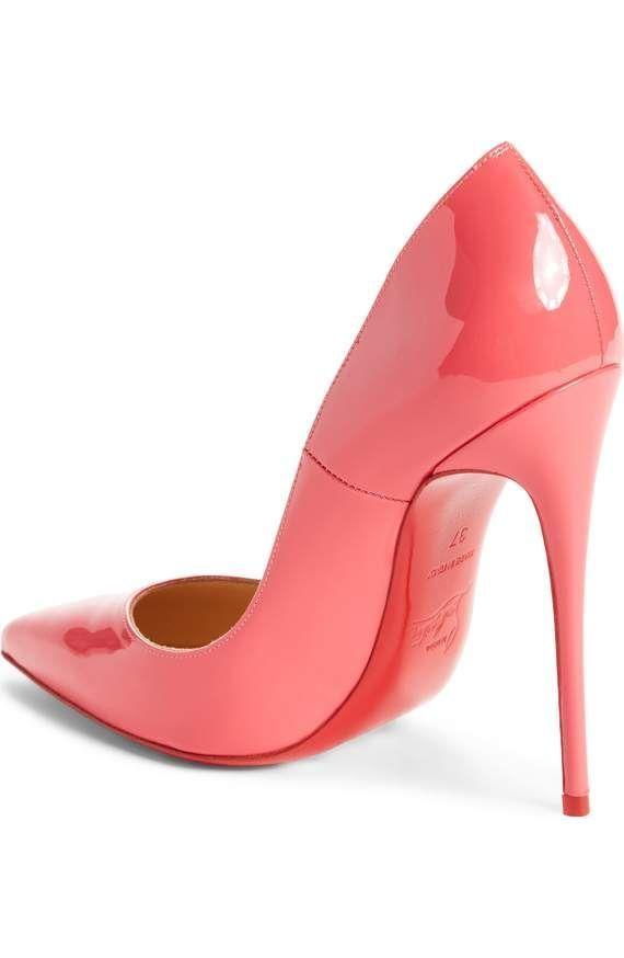 8eb09c849cce So Kate Rose-Coral Colored Pump  redstilettoheels  christianlouboutinnails