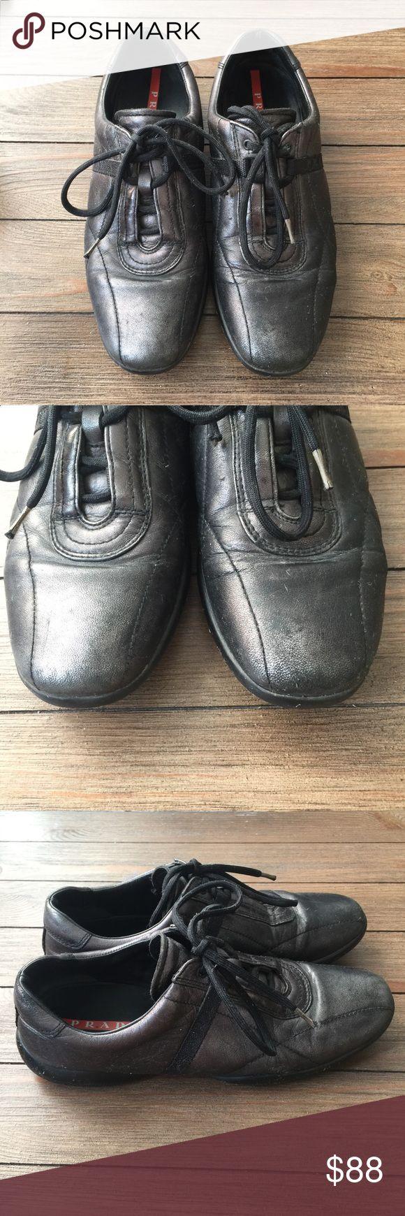 Prada sneaker Prada sneaker in metallic black Prada Shoes Sneakers