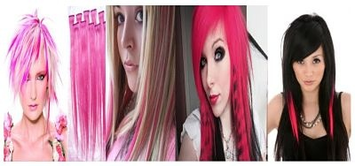 Pink Hair Extensions-- these are great for Breast Cancer Awareness Month!