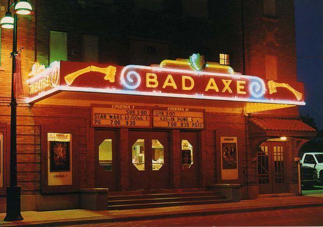 The classic Bad Axe Michigan theater.
