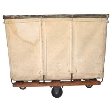 Check out this item at One Kings Lane! Industrial Canvas Mail Cart