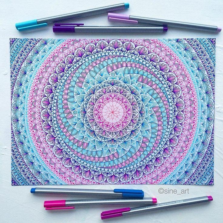 Mandala on A4 sheet of paper _ Drawn with Staedtler Triplus fineliners! #mySTAEDTLER @staedtlermars #arts_gallery#artfido#arts_help#artist_4_shoutout#artofdrawingg#allforarts#artspix#arts_secret#sketch_daily#artmagazine#phanasu#dailyarts#rtistic_feature#art_worldly by sine_art