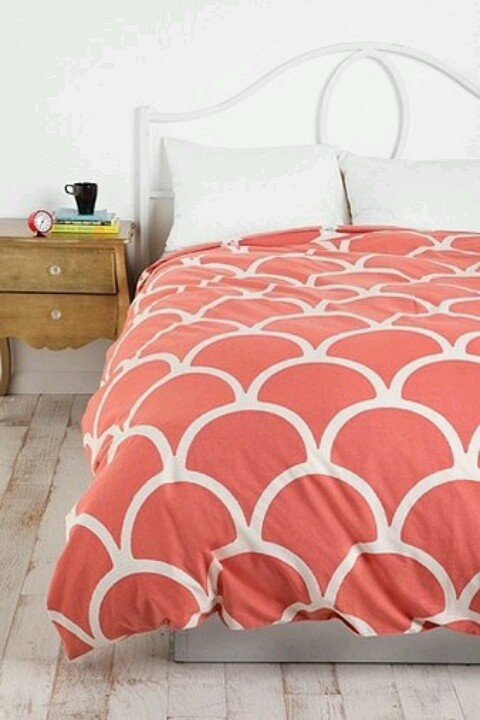 urban outfitters coral duvet cover mi cuarto pinterest. Black Bedroom Furniture Sets. Home Design Ideas
