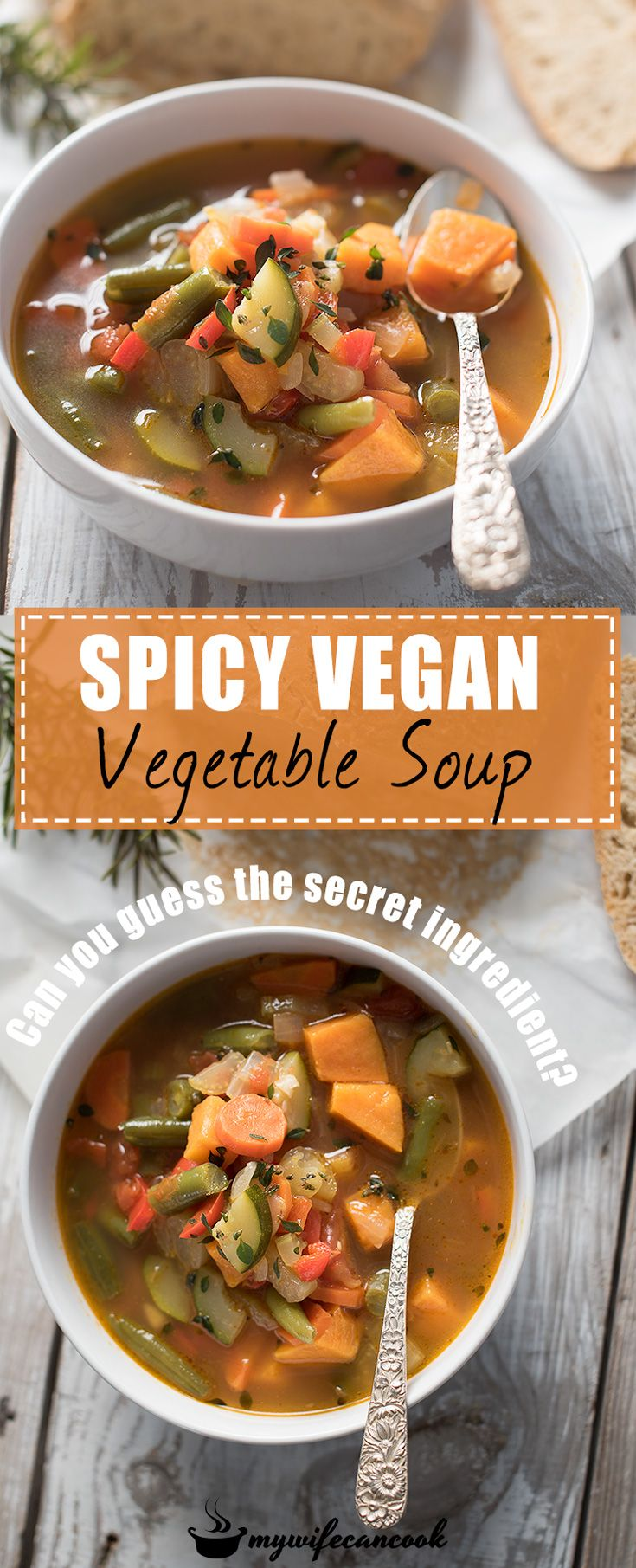 This easy vegan spicy vegetable soup packs a special spicy kick thanks to a secret ingredient. It's a great vegetable soup & a great way to get your daily dose of veggies! Whenever we need to clean out the vegetable drawer in our frig this is always the soup recipe we pull out to use. And the secret ingredient(Any guesses?) is really what makes this a spicy vegetable soup regardless of what vegetables you have added. Need a hint? This recipe was adapted from Tilghman Island Soup, a MD…