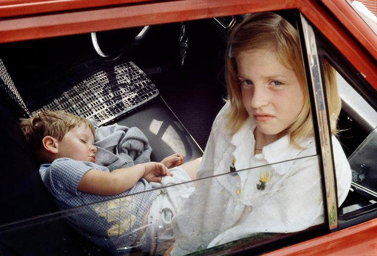 Vivian Maier - 1978, (two kids red car) / Chromogenic Print - 10 x 15 (on 16x20 paper)