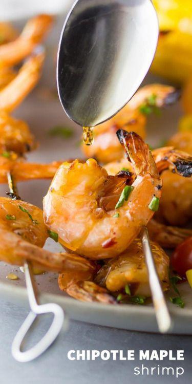Chipotle Grilled Shrimp Skewers with Maple GlazeReally nice  Mein Blog: Alles rund um die Themen Genuss & Geschmack  Kochen Backen Braten Vorspeisen Hauptgerichte und Desserts # Hashtag