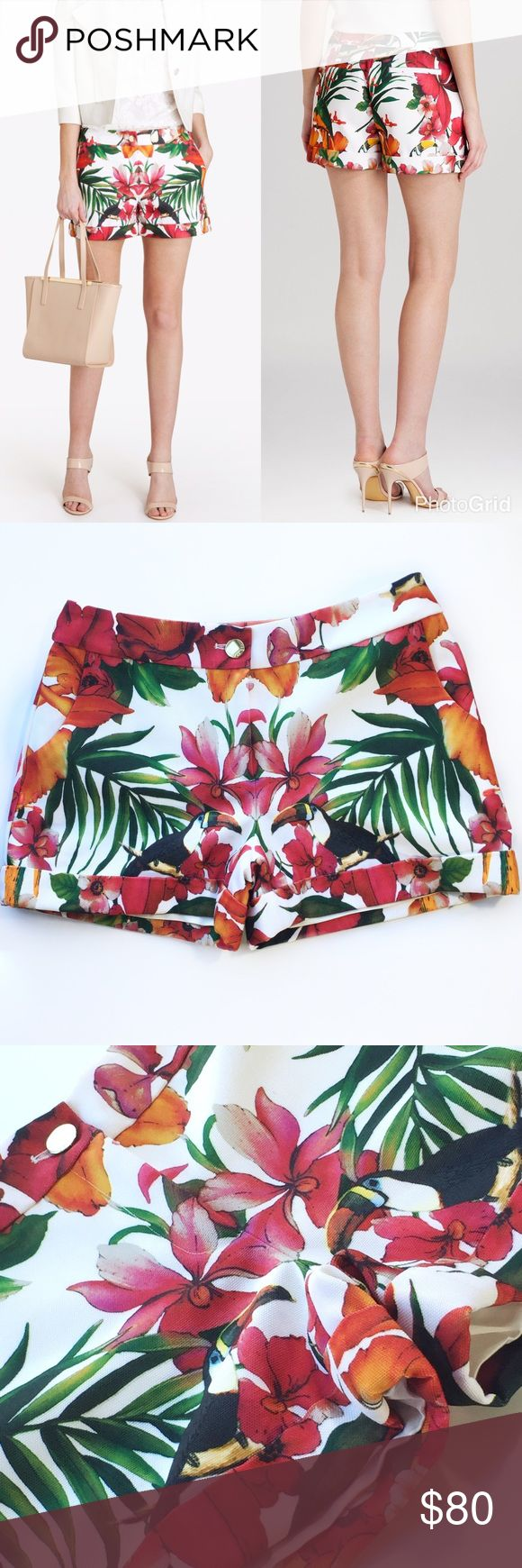 Ted Baker Tropical Print Canvas Shorts. NWT Very cute NWT never worn shorts in perfect condition. Fully lined Ted Baker Shorts