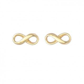 """Diese märchenhaften Ohrstecker """"Unendlicher Knoten"""" von Maija Design ist ein liebevoller Begleiter durch den Tag. Der schön geschwungene unendliche Knoten aus goldplattiertem 925er Sterlingsilber ist ein verspielter Blickfang."""