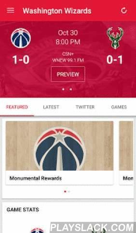 Washington Wizards Mobile  Android App - playslack.com , This is the official mobile app of the Washington Wizards. Make your Android device a unique part of your game-day experience for Wizards games. Want to catch breaking news of the team? See real-time statistics for every game? Watch video-on-demand clips of press conferences and player interviews? Follow post-game blogs and pre-game previews of the matchups?Now, you can stay in touch with the Wizards anytime, anywhere, on your Android…