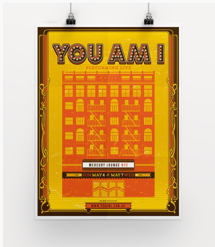 You Am I USA 2014 Poster