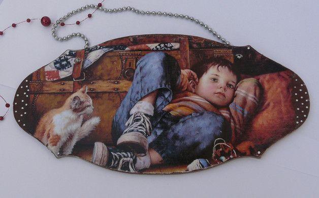 Zawieszka do pokoju chłopczyka - EskiFloreski - Ozdoby na ścianę