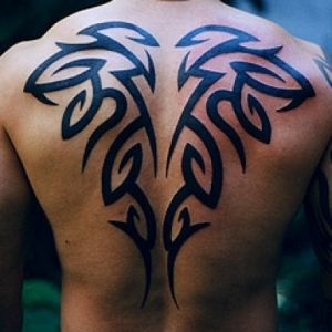 78 best ideas about men back tattoos on pinterest print for Back tribal tattoo