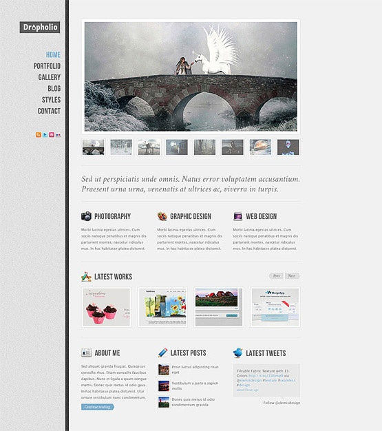 free - photoshop website layout