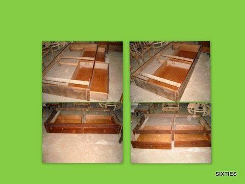 cama: com gavetas deslizantes, por restaurar-1 em armazém
