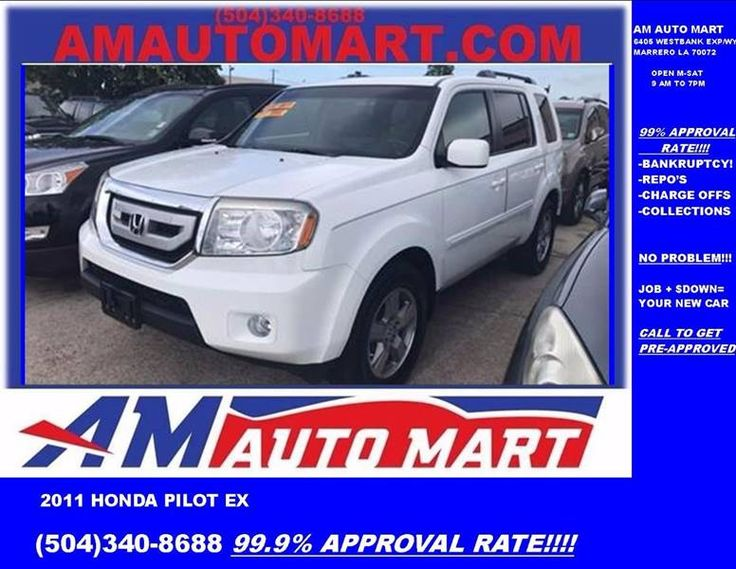 This 2011 Honda Pilot EX is listed on Carsforsale.com in Marrero, LA. This vehicle includes Exhaust - Dual Tip, Mudguards - Front, Body Side Moldings - Body-Color, Door Handle Color - Body-Color, Exhaust Tip Color - Chrome, Mirror Color - Body-Color, Mudguards - Rear, Air Filtration, Armrests - Rear Center Folding With Storage, Floor Mat Material - Carpet, Floor Mats - Front, Floor Mats - Rear, Front Air Conditioning - Automatic Climate Control, Front Air Conditioning Zones - Dual, Rear Air…