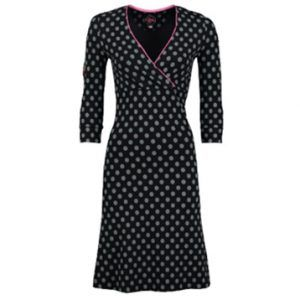 Dress Crossover Little Dot Black