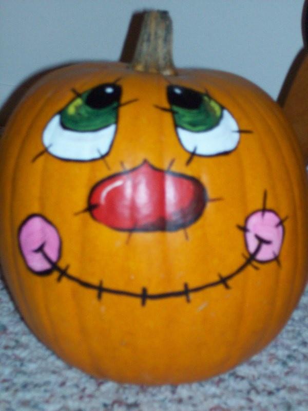 41 Best Painted Pumpkin Faces Images On Pinterest