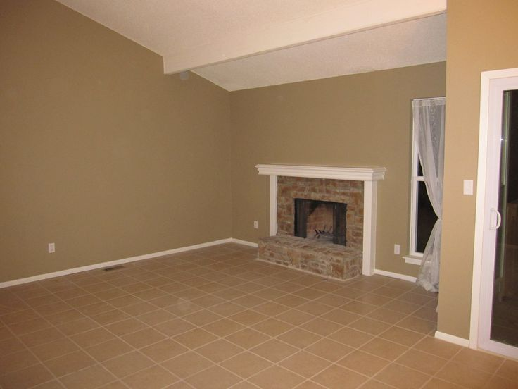 Tile Floor In Living Dining Room Stone Fire Place New