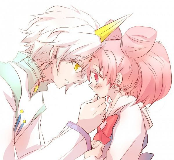 Chibiusa and Helios~Almost First Kiss