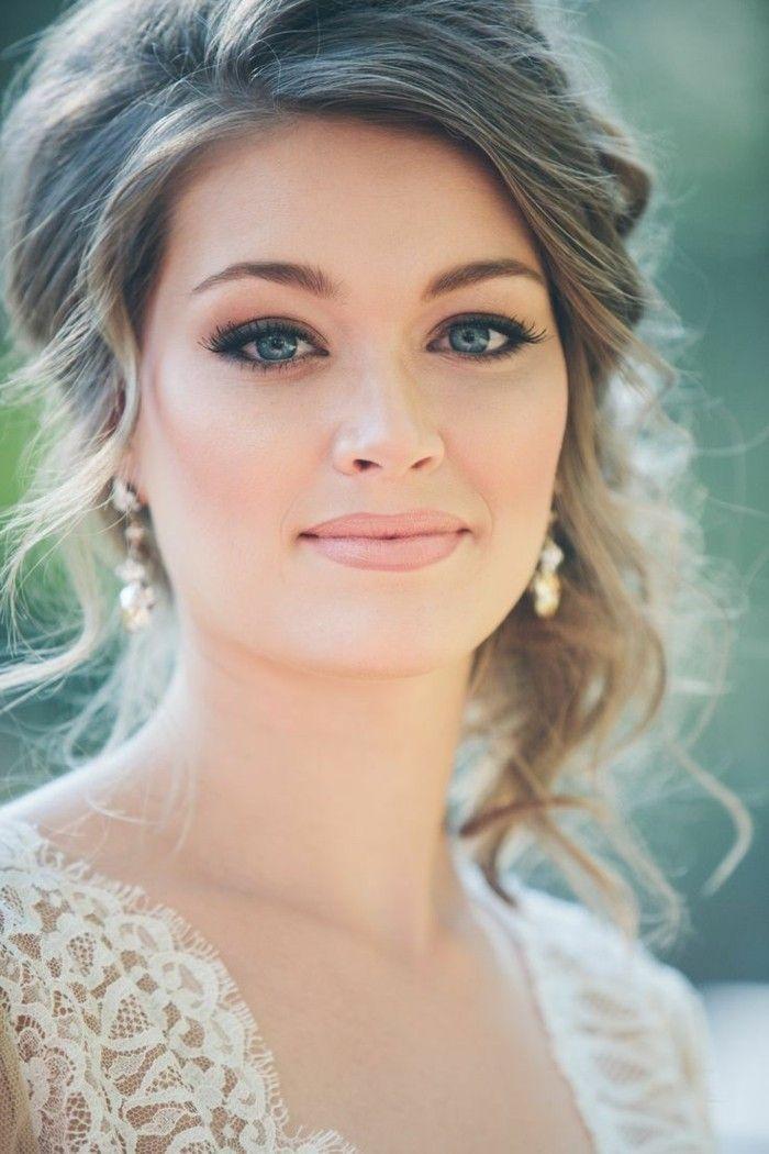 Pin Von Cassia Auf Wedding Hairstyles Braut Make Up Make Up Braut Brautfrisur