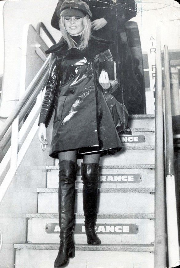 Brigitte Bardot in head-to-toe leather. // #Celebrity