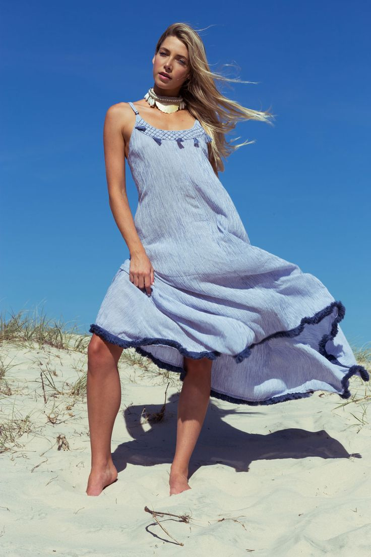 RUBY YAYA - Stripe Maxi Dress