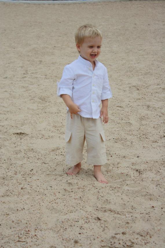 Boys Beach Outfit Boys Beach Wedding Ring Bearer Outfit