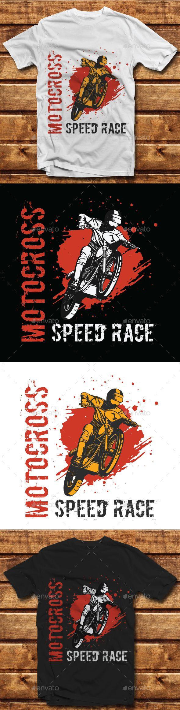 Design t shirt motocross - Buy Motocross Speed Race Tshirt Design By Imanvector On Graphicriver