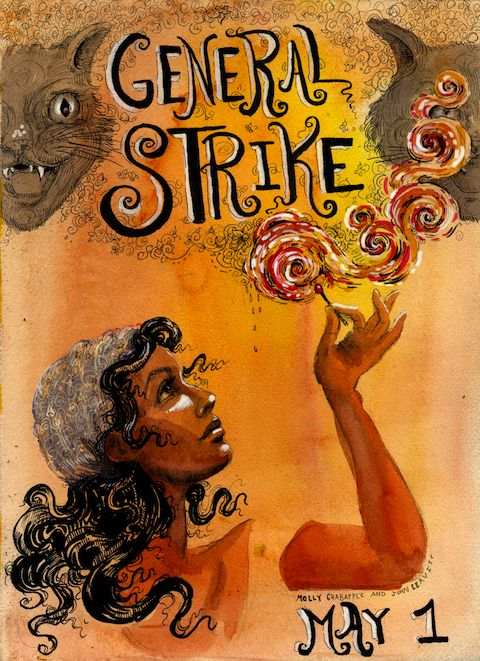 Occupy May Day Strike Poster, inspired by London Matchgirls Strike of 1888 (by Molly Crabapple & John Leavitt)