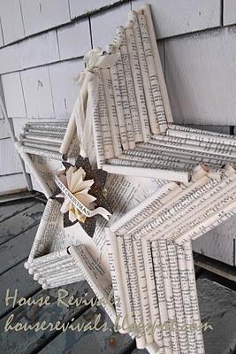 Stern aus Zeitungspapier