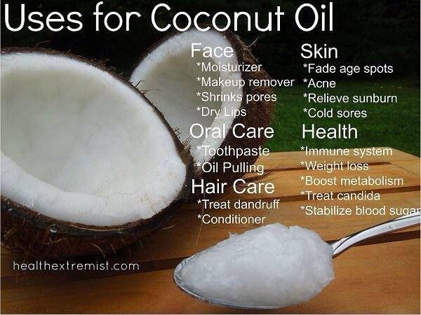 love coconut oil.  I cook/bake w it, use it for skin care, oil pulling, and take supplements.
