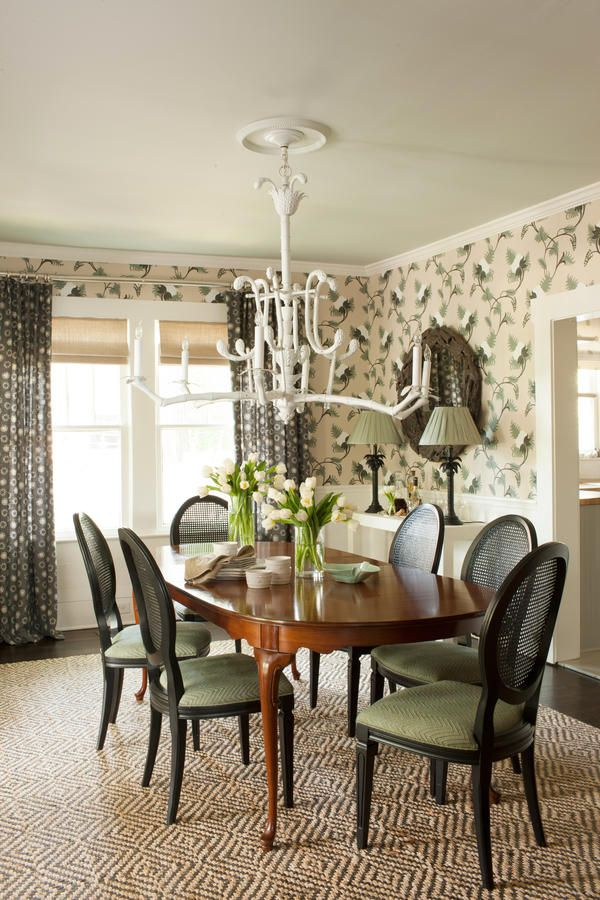 Botanical Chic Beautiful Wallpaper Ideas Decorating Dining Roomsroom