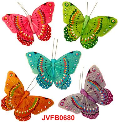 94 best artificial butterflies images on pinterest for Synthetic feathers for crafts
