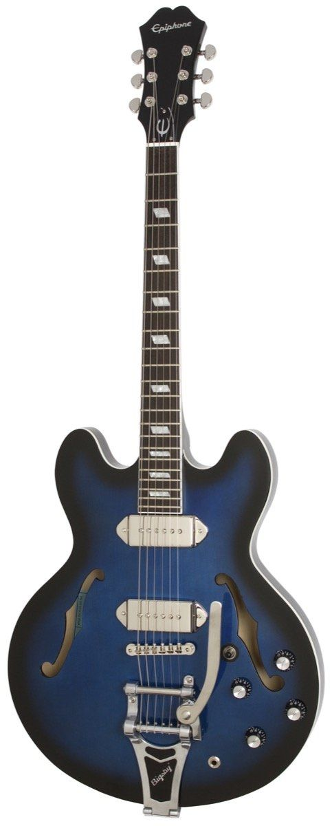 Epiphone Limited Edition Gary Clark Jr Blak and Blu Casino Bigsby