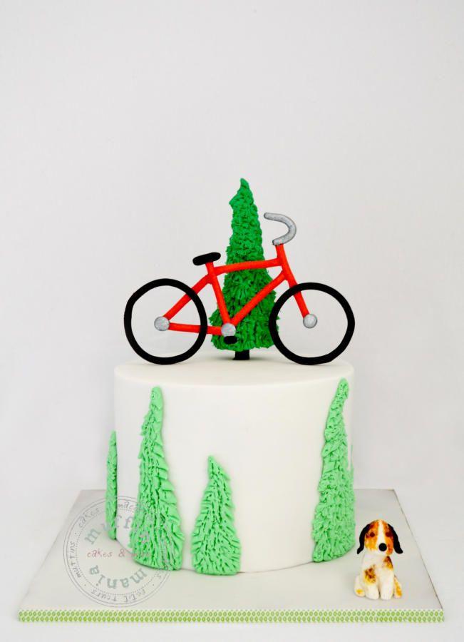 Торт с картинкой велосипеда