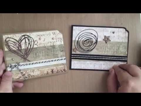 ▶ Cardmaking with Tim Holtz Scribbles and Splats dies - YouTube