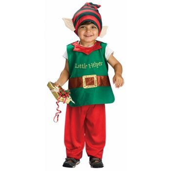 Kids Elf Costume This Very Cute Lil Kids Elf Costume will look fantastic on your little one this Christmas.  Elf Costume Includes- Shirt, Pants & Head Piece  Have a Safe & Merry Christmas  Size 1-2 Years