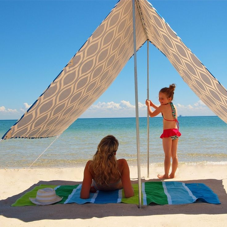 Christmas in Australia brings to mind days at the beach with friends and family...this would be perfect Sombrilla beach shelter in Moroccan blue  Christmas in #htfstyle