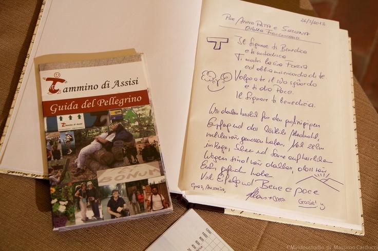 Franciscan Hostel - guestbook
