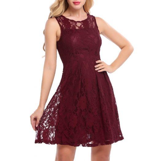 Вино красное рукавов Женщины и платье