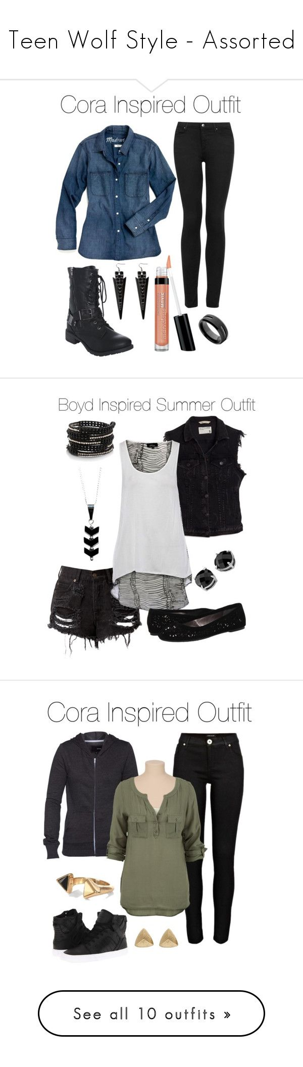 """""""Teen Wolf Style - Assorted"""" by stardustonthepiano ❤ liked on Polyvore featuring Madewell, Topshop, Bare Escentuals, Wet Seal, Pieces, rag & bone/JEAN, Pink & Pepper, Giani, Chan Luu and River Island"""