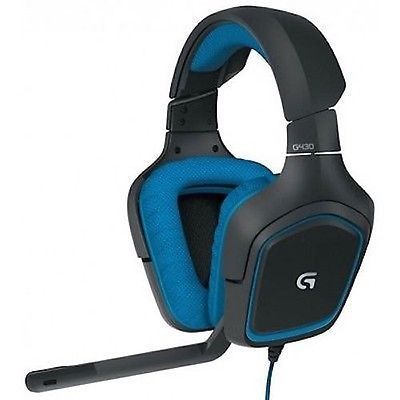 ﹩28.00. Logitech G430 7.1 Dolby Surround Sound Gaming Headset    Fit Design - Headband, Color - Multi-Color, Wireless Technology - Not Applicable, Microphone - Boom, Earpiece - Double, Features - Foldable, Connectivity - Wired, Connector(s) - USB, Earpiece Design - Ear-Cup (Over the Ear), MPN - 981-000536