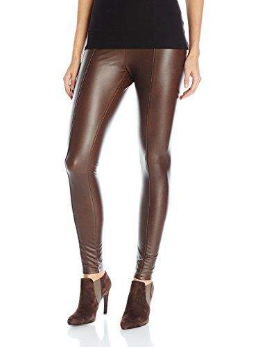 Lyssé Women's Hi Waist Vegan Legging, Bourbon, XS Our best-selling vegan leather legging in 4 way stretch fabric for a body hugging fitFeatures leg length seam detailLyssefit, our custom designed hi-waist and soft stretch lining