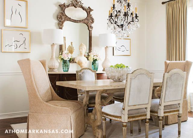 A Vast Collection Of Antiques, Modern Art, Colorful Accessories, And  Whimsical Lighting Combine · White Dining RoomsArkansasTo ...