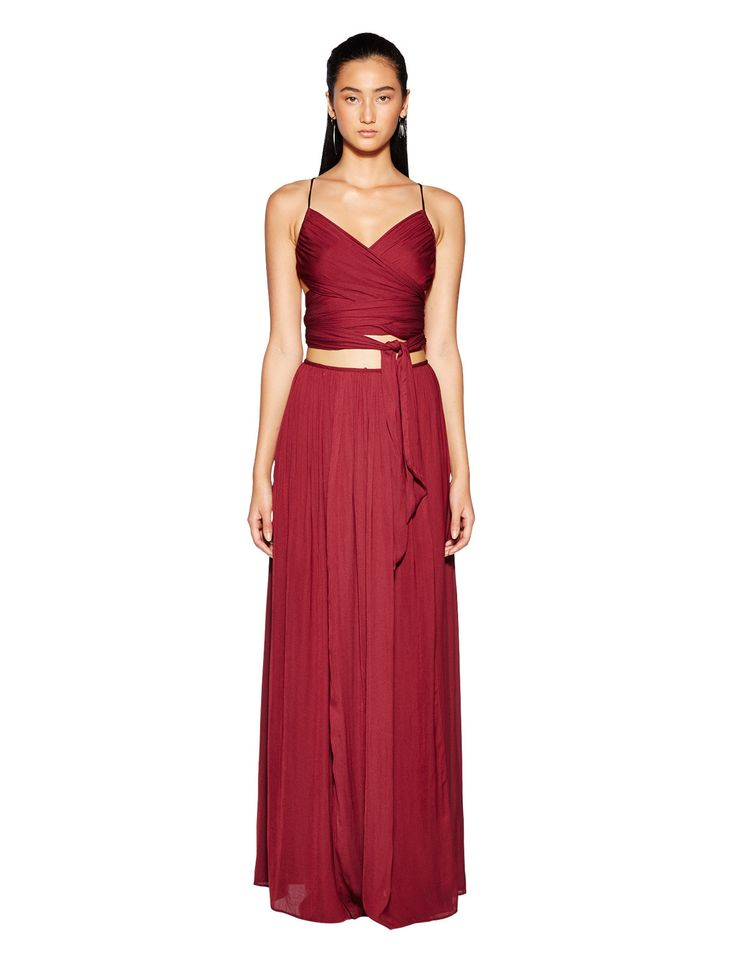 bec and bridge - Desert March Maxi Skirt In Raspberry