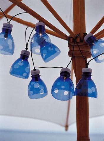 Illuminazione giardino: fai da te riciclo creativo con le bottiglie di plasica