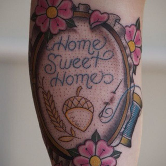 Cross Stitch Tattoo: 21 Best Images About Cross-stitch Tattoos On Pinterest