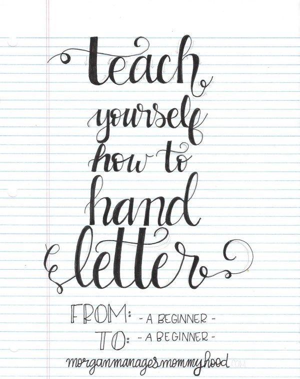Best 25+ Hand lettering for beginners ideas on Pinterest